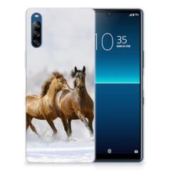 Sony Xperia L4 TPU Hoesje Paarden