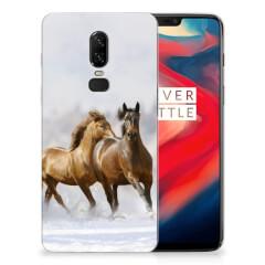 OnePlus 6 TPU Hoesje Paarden