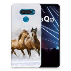 LG Q60 TPU Hoesje Paarden