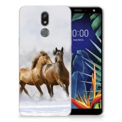 LG K40 TPU Hoesje Paarden