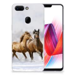 OPPO R15 Pro TPU Hoesje Paarden