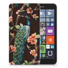 Microsoft Lumia 640 TPU Hoesje Pauw met Bloemen