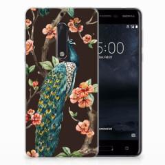 Nokia 5 TPU Hoesje Pauw met Bloemen