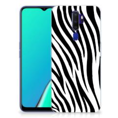OPPO A5 2020 TPU Hoesje Zebra
