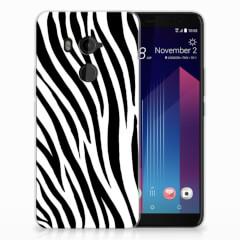 HTC U11 Plus TPU Hoesje Zebra