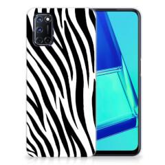 OPPP A52   A72 TPU Hoesje Zebra