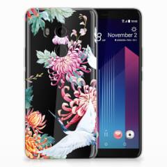 HTC U11 Plus TPU Hoesje Bird Flowers
