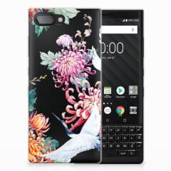 BlackBerry Key2 TPU Hoesje Bird Flowers