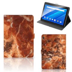Lenovo Tab E10 Leuk Tablet hoesje  Marmer Bruin