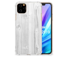 Apple iPhone 11 Pro Max Stevig Telefoonhoesje White Wood