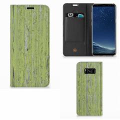 Samsung Galaxy S8 Plus Book Wallet Case Green Wood