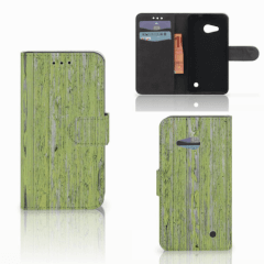 Microsoft Lumia 550 Book Style Case Green Wood