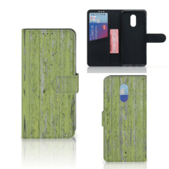OnePlus 7 Book Style Case Green Wood