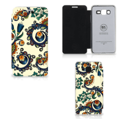 Wallet Case Samsung Galaxy Grand Prime Barok Flower