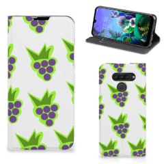 LG Q60 Flip Style Cover Druiven