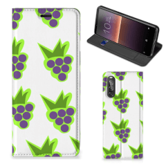 Sony Xperia 10 II Flip Style Cover Druiven
