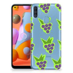 Samsung Galaxy A11   M11 Siliconen Case Druiven