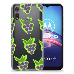 Motorola Moto E6s Siliconen Case Druiven