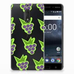 Nokia 6 Siliconen Case Druiven