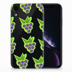 Apple iPhone Xr Siliconen Case Druiven