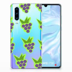 Huawei P30 Siliconen Case Druiven