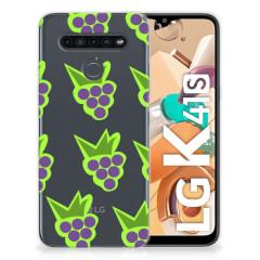 LG K41s Siliconen Case Druiven