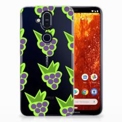Nokia 8.1 Siliconen Case Druiven