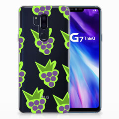 LG G7 Thinq Siliconen Case Druiven