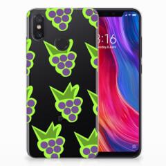 Xiaomi Mi 8 Siliconen Case Druiven