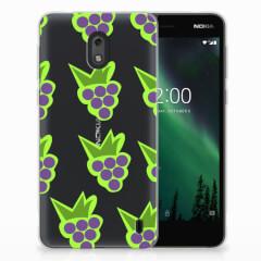 Nokia 2 Siliconen Case Druiven