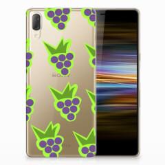 Sony Xperia L3 Siliconen Case Druiven