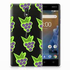 Nokia 3 Siliconen Case Druiven