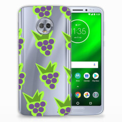Motorola Moto G6 Plus Siliconen Case Druiven