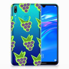 Huawei Y7 2019 Siliconen Case Druiven