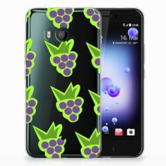 HTC U11 Siliconen Case Druiven