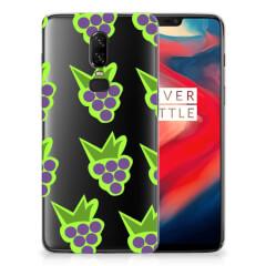 OnePlus 6 Siliconen Case Druiven