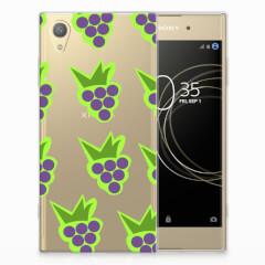 Sony Xperia XA1 Plus Siliconen Case Druiven
