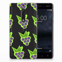 Nokia 5 Siliconen Case Druiven