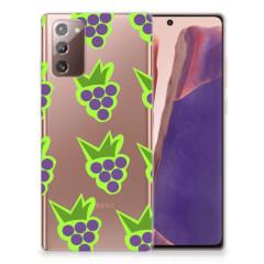Samsung Note 20 Siliconen Case Druiven