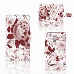 Hoesje Samsung Galaxy S4 Watercolor Flowers