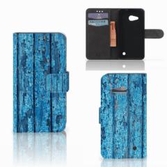 Microsoft Lumia 550 Book Style Case Wood Blue