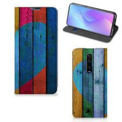 Xiaomi Redmi K20 Pro Book Wallet Case Wood Heart - Cadeau voor je Vriend