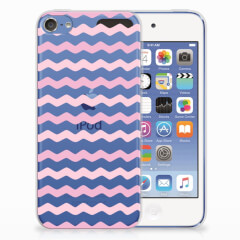 Apple iPod Touch 5 | 6 TPU bumper Waves Roze