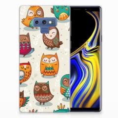 Samsung Galaxy Note 9 TPU Hoesje Vrolijke Uilen