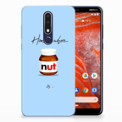 Nokia 3.1 Plus Siliconen Case Nut Home