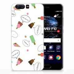 Huawei P10 Siliconen Case IJsjes