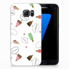 Samsung Galaxy S7 Edge Siliconen Case IJsjes