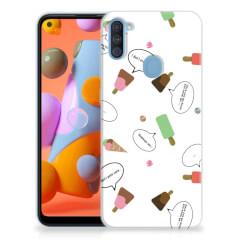Samsung Galaxy A11   M11 Siliconen Case IJsjes