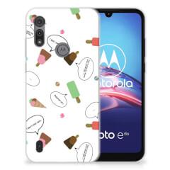 Motorola Moto E6s Siliconen Case IJsjes