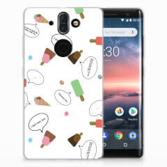 Nokia 9 | 8 Sirocco Siliconen Case IJsjes